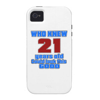 21 birthday designs Case-Mate iPhone 4 cover