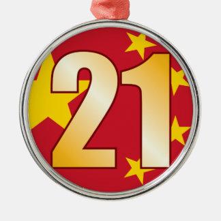 21 CHINA Gold Christmas Ornament