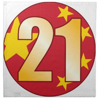 21 CHINA Gold Napkin