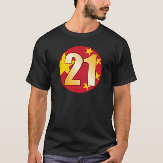 21 CHINA Gold T-Shirt