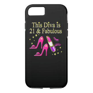 21 & FABULOUS PINK SHOE AND LIPSTICK DIVA DESIGN iPhone 7 CASE