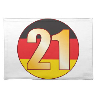 21 GERMANY Gold Placemat