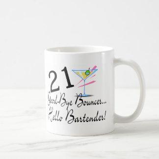 21 Good Bye Bouncer Hello Bartender Basic White Mug