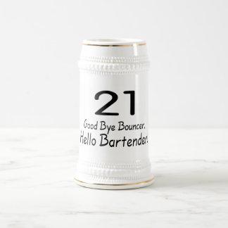 21 Good Bye Bouncer Hello Bartender (Blk) Beer Steins