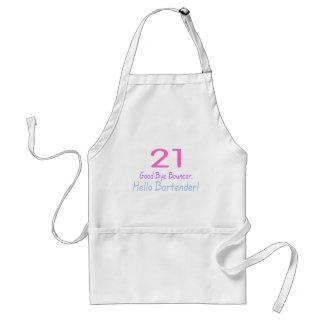 21 Good Bye Bouncer Hello Bartender (Blk) Standard Apron