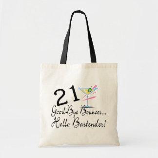 21 Good Bye Bouncer Hello Bartender Budget Tote Bag