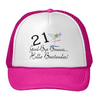 21 Good Bye Bouncer Hello Bartender Cap