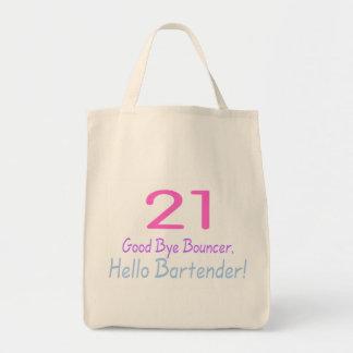 21 Good Bye Bouncer Hello Bartender (Color) Grocery Tote Bag