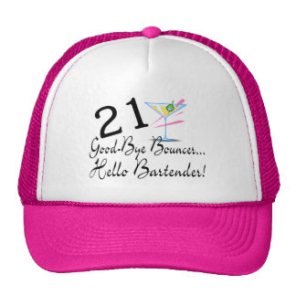 21 Good Bye Bouncer Hello Bartender Mesh Hat