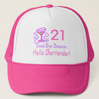 21 Good Bye Bouncer Hello Bartender (Pink) Trucker Hat