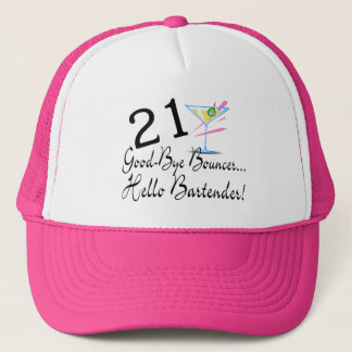 21 Good Bye Bouncer Hello Bartender Trucker Hat