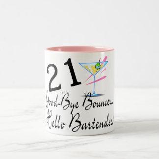 21 Good Bye Bouncer Hello Bartender Two-Tone Mug