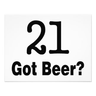 21 Got Beer Personalized Announcements