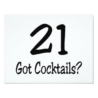 21 Got Cocktails Personalized Invitations