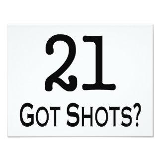 21 Got Shots Announcements