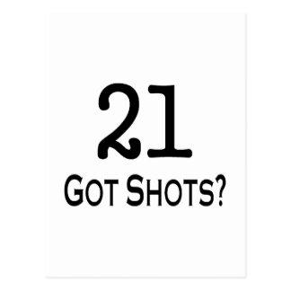 21 Got Shots Post Card