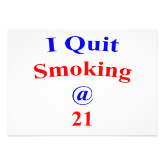 21 I Quit Smoking Personalized Invite