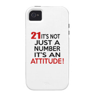 21 it's not just a number it's an attitude iPhone 4/4S covers