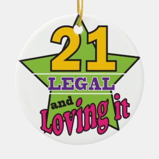 21 Legal and Loving It Christmas Ornament