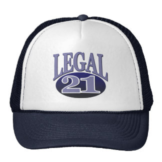 21 & Legal Birthday Mesh Hats