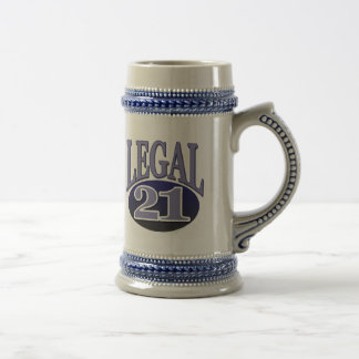21 & Legal Birthday Coffee Mugs