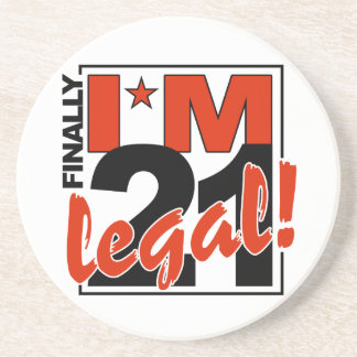 21 & LEGAL coaster