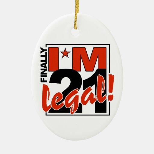 21 & LEGAL ornament, customize