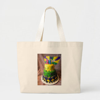 21 Mardi Gras Cake Large Tote Bag