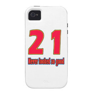 21 never looked so good birthday designs Case-Mate iPhone 4 cases