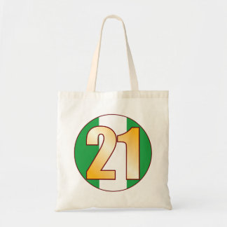 21 NIGERIA Gold Tote Bag
