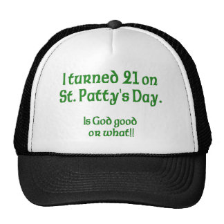 "21 on St Patty""s Day Cap"