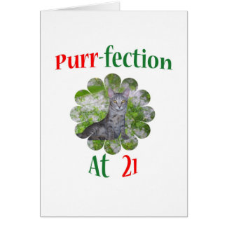 21 Purr-fection Greeting Card