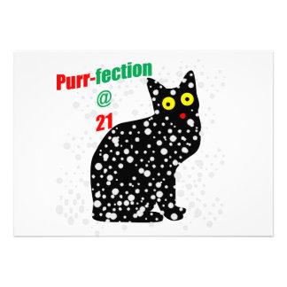 21 Snow Cat Purr-fection Invitations