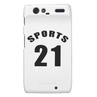 21 Sports Birthday Designs Motorola Droid RAZR Cover