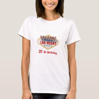 21 St Birthday Las Vegas Ladies Baby Doll T-Shirt