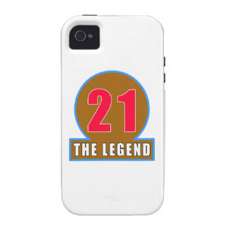 21 The Legend Birthday Designs Vibe iPhone 4 Case