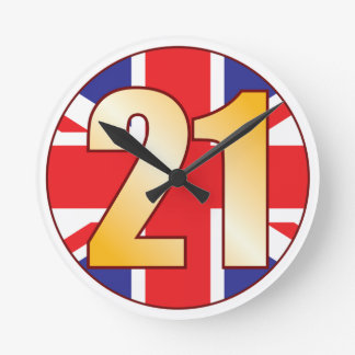 21 UK Gold Round Clock