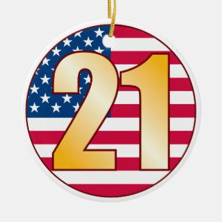 21 USA Gold.pdf Christmas Ornament