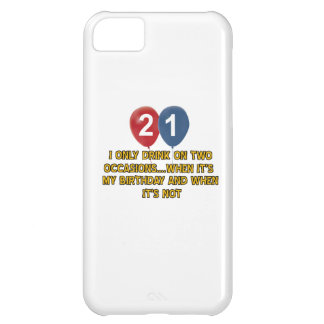 21 year old birthday designs iPhone 5C case
