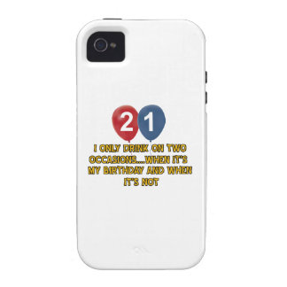 21 year old birthday designs iPhone 4/4S covers
