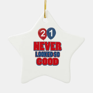 21 year old birthday designs christmas ornament