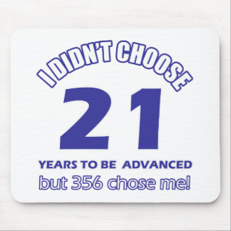 21 years advancement mouse pad