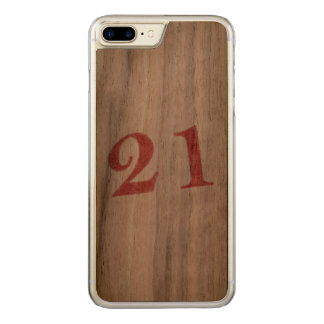 21 years anniversary carved iPhone 7 plus case