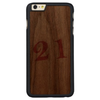 21 years anniversary carved® walnut iPhone 6 plus case