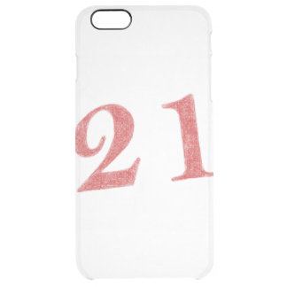21 years anniversary clear iPhone 6 plus case