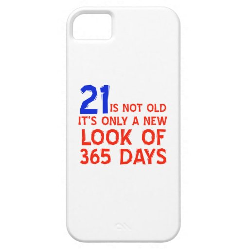 21 years Old birthday designs iPhone 5/5S Case