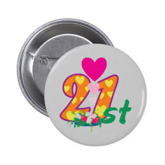 21st, 21 today personalized birthday 6 cm round badge
