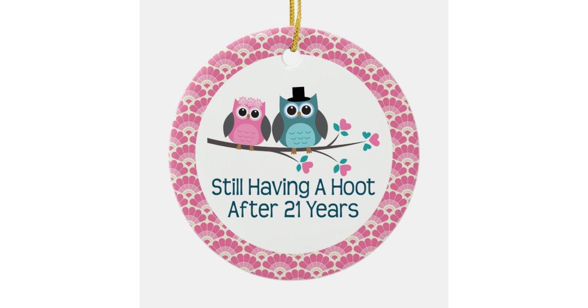 21 Wedding Anniversary Gift: 21st Anniversary Owl Wedding Anniversaries Gift Christmas
