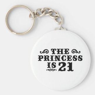 21st Birthday Basic Round Button Key Ring