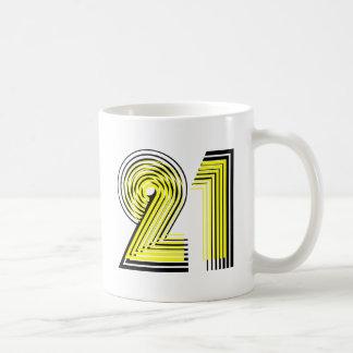 21st Birthday Basic White Mug